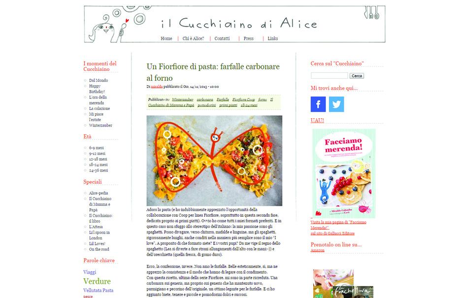 Pagina blog per Coop