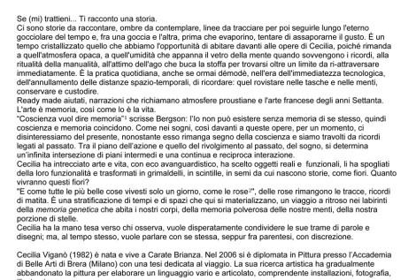 Se (mi) trattieni _ Cecilia Viganò- comunicato stampa _ 2010_1