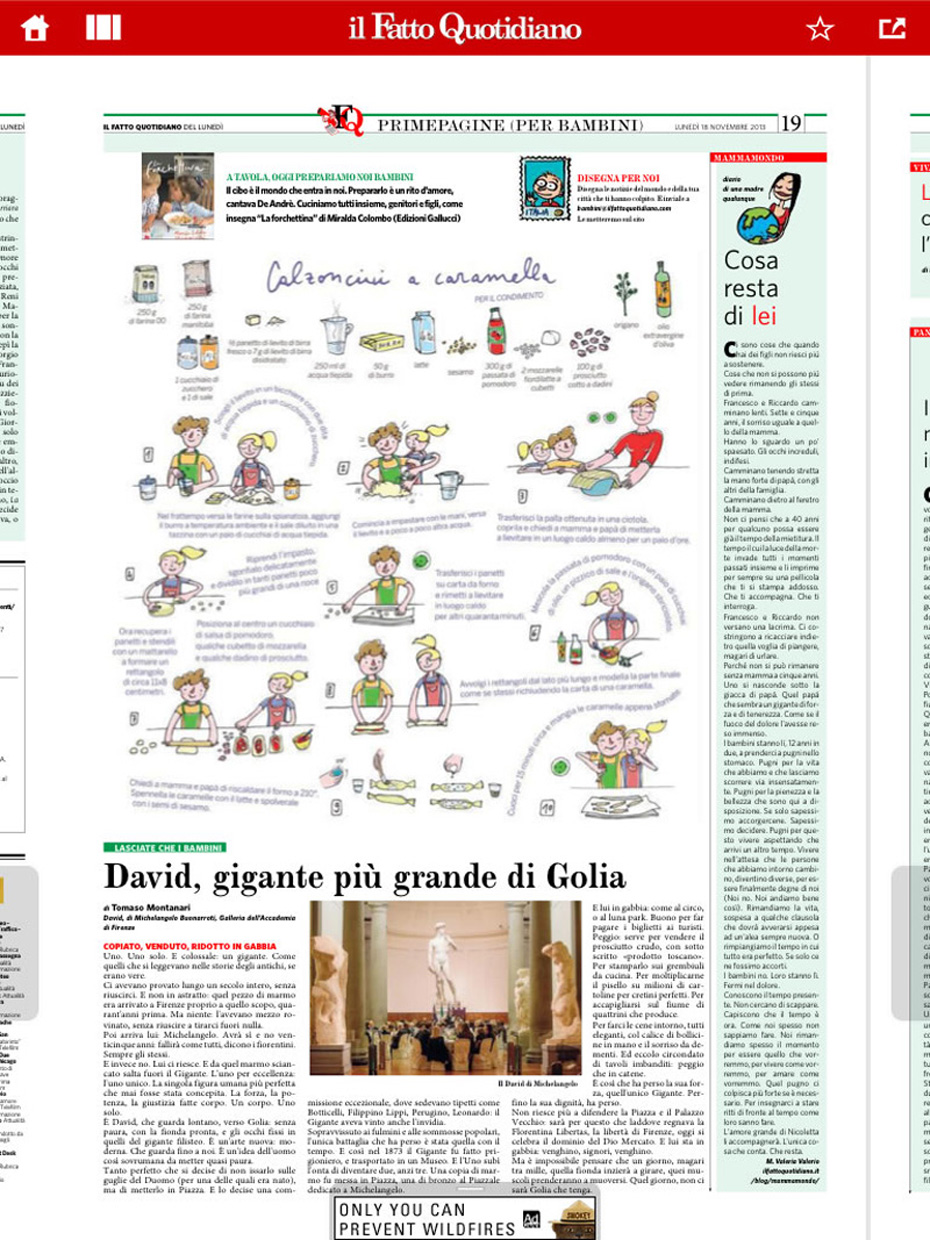 la forchettina il fatto quotidiano 18.11.2013